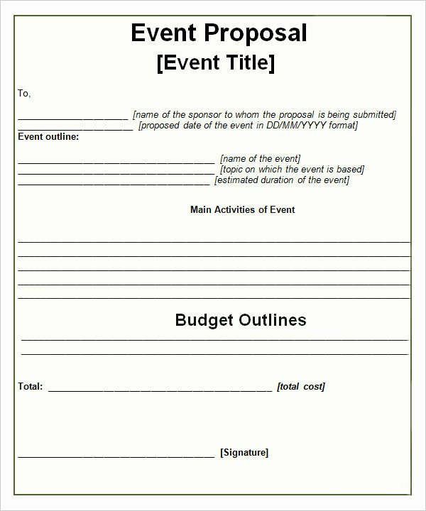 Free Proposal Templates for Word New 30 Sample event Proposal Templates Psd Pdf Word