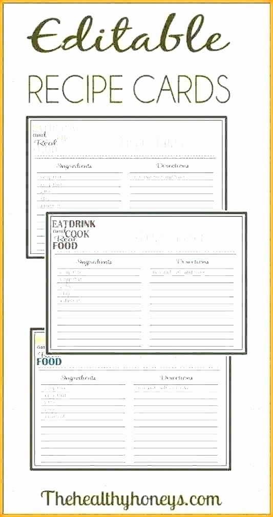 Free Recipe Templates for Microsoft Word Awesome Free Recipe Card Templates for Microsoft Word