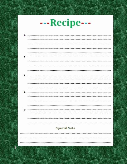 Free Recipe Templates for Microsoft Word Awesome Recipe Card Template for Word Beepmunk