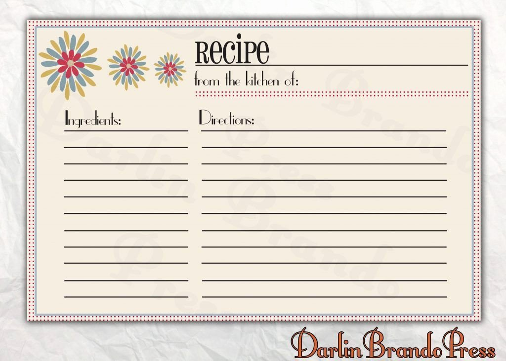 Free Recipe Templates for Microsoft Word Beautiful Free Recipe Card Templates for Microsoft Word – Free
