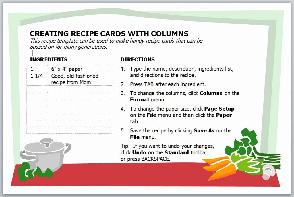 Free Recipe Templates for Microsoft Word Lovely Recipe Card Template