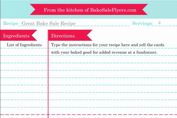 Free Recipe Templates for Microsoft Word Unique Bake Sale Flyers – Free Flyer Designs