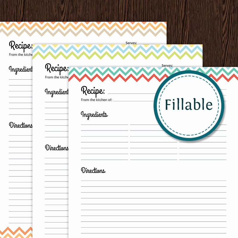 Free Recipe Templates for Microsoft Word Unique Full Page Recipe Template for Word