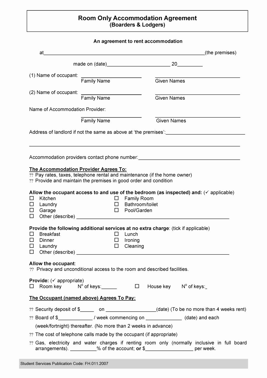 Free Roommate Agreement Template Best Of 40 Free Roommate Agreement Templates & forms Word Pdf