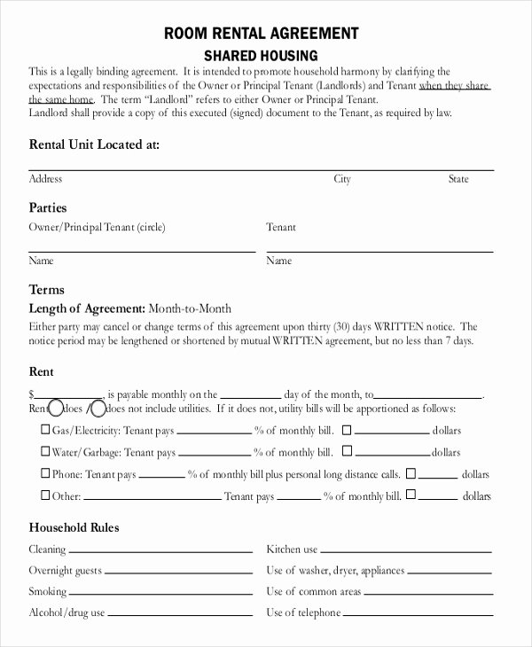 Free Roommate Agreement Template Best Of Roommate Lease Agreement Pdf