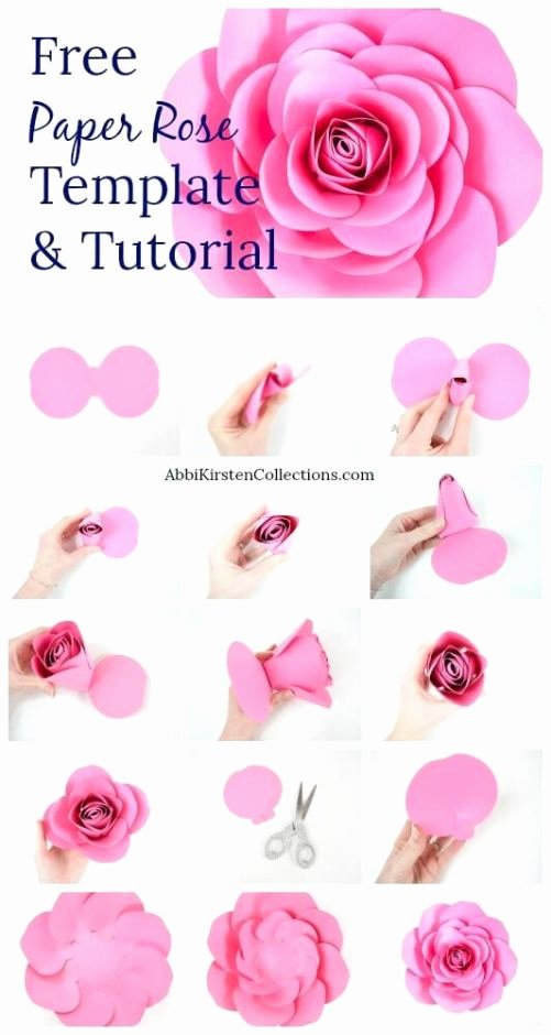 Free Rose Paper Flower Template Best Of Free Paper Rose Template Diy Camellia Rose Tutorial