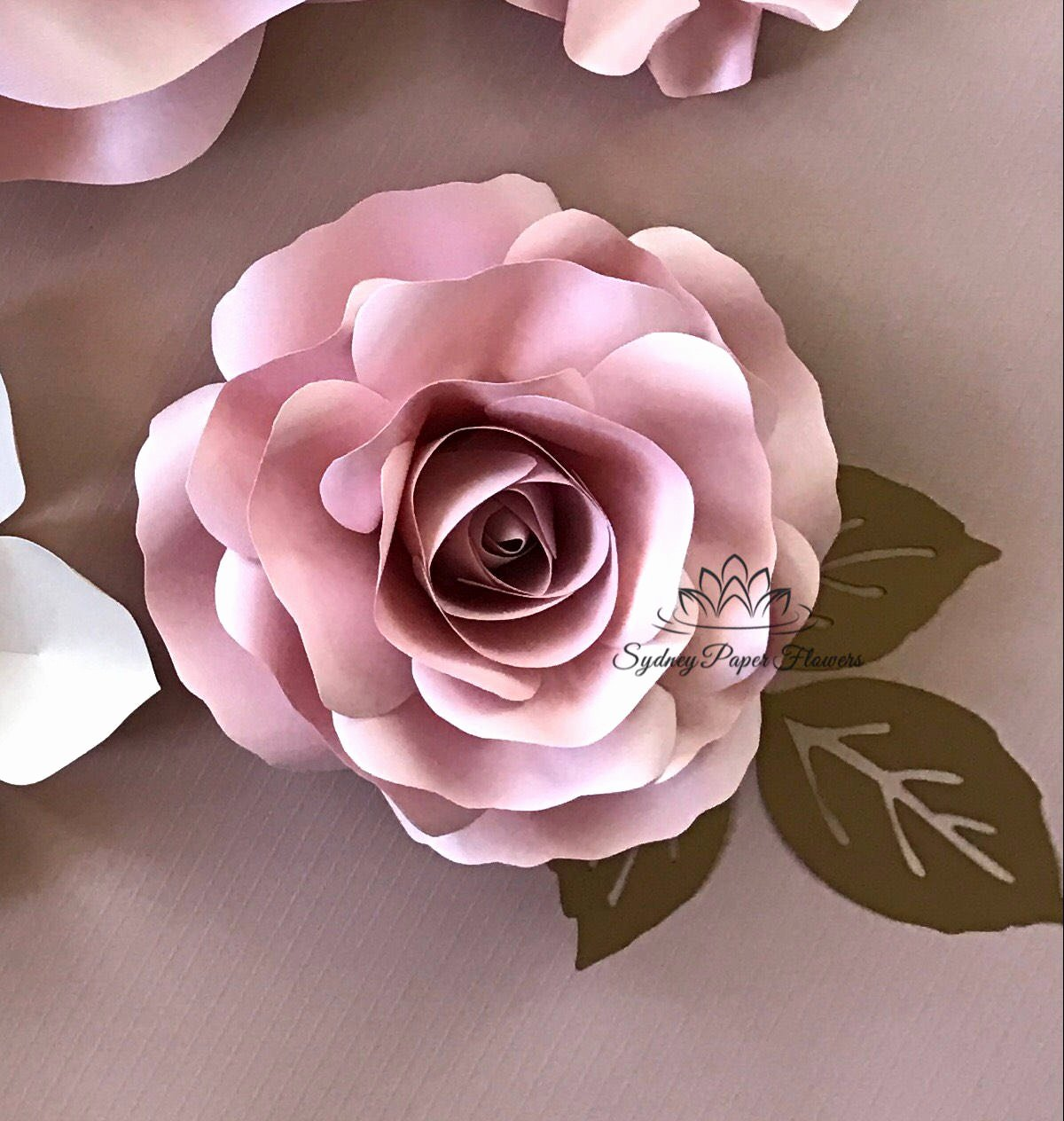 Free Rose Paper Flower Template Best Of Video Tutorial & Template Rose Bud Paper Flower Paper