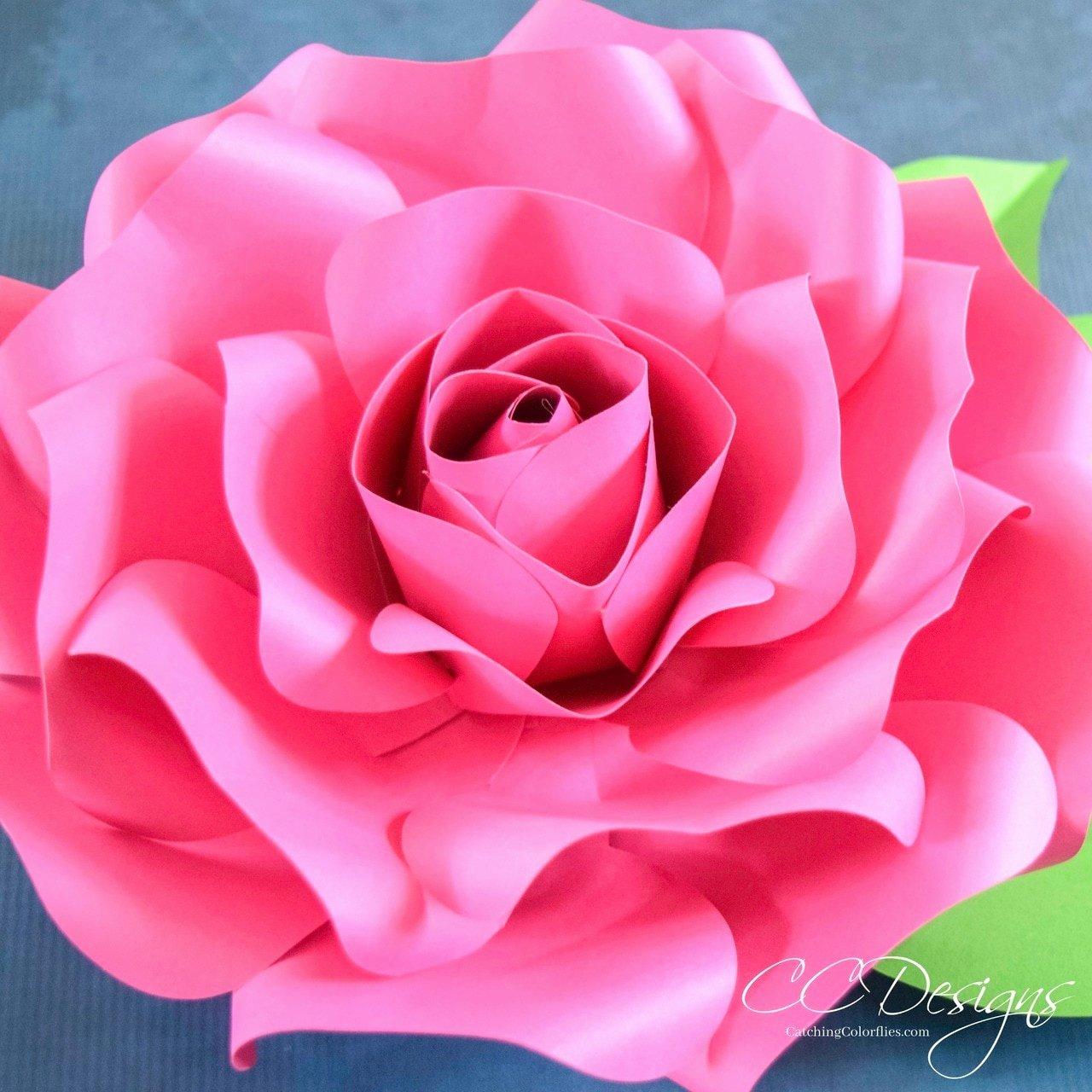 Free Rose Paper Flower Template Elegant Alora Garden Giant Paper Rose Template & Tutorial