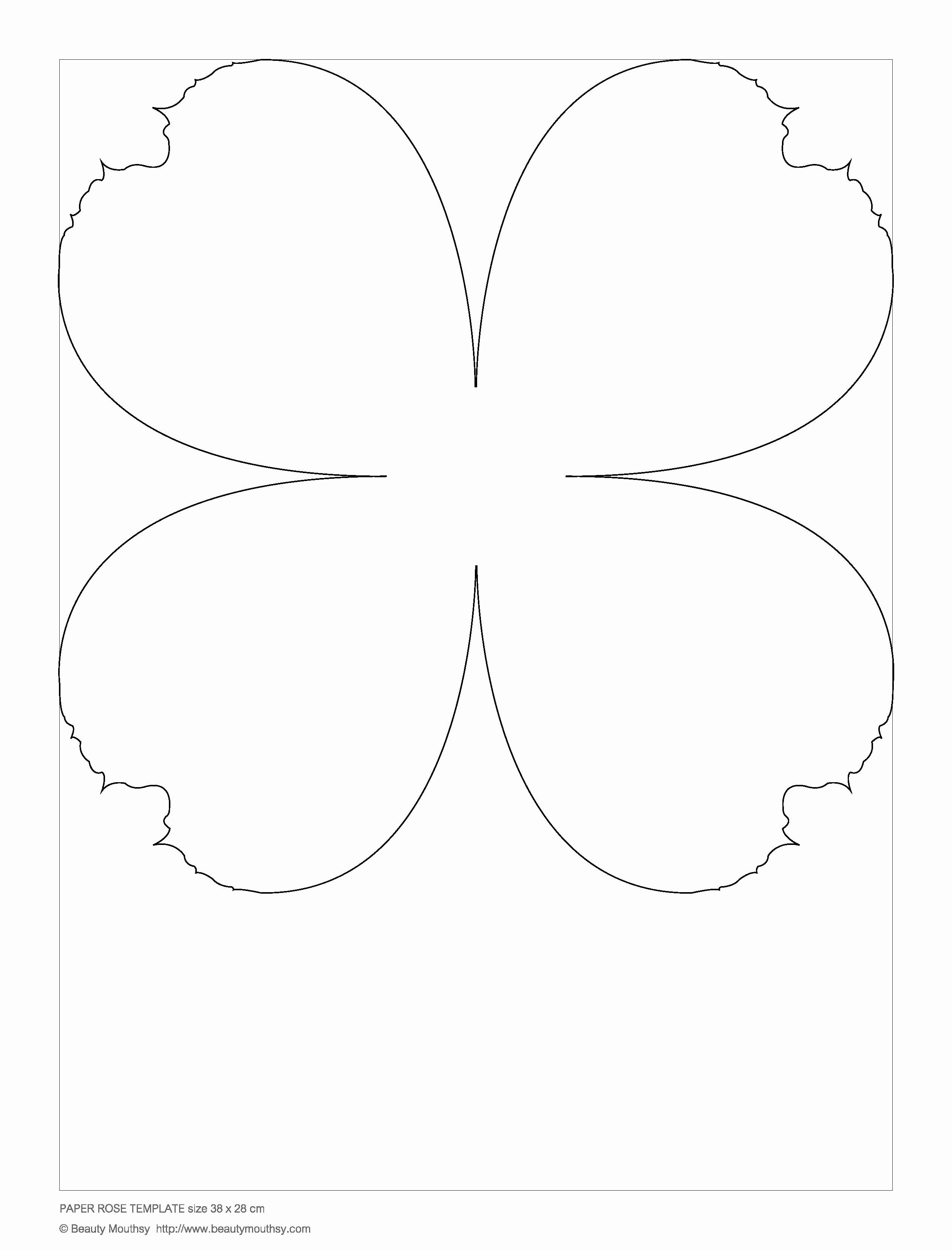 Free Rose Paper Flower Template Fresh Paper Rose Template Small