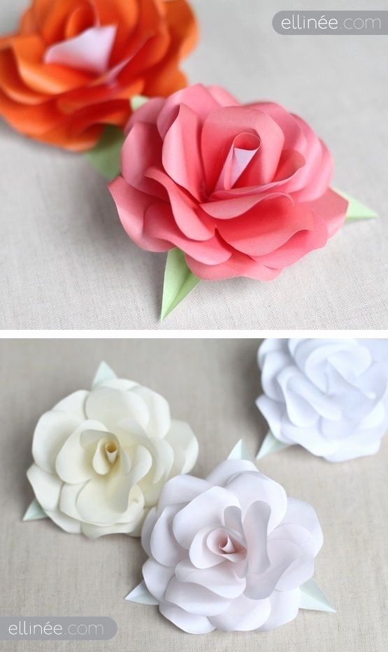 Free Rose Paper Flower Template Inspirational Diy Paper Roses Full Step by Step Tutorial Plus Free