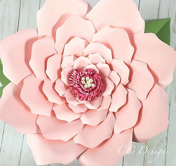 Free Rose Paper Flower Template Inspirational Printable Paper Flower Templates Giant Flower Templates
