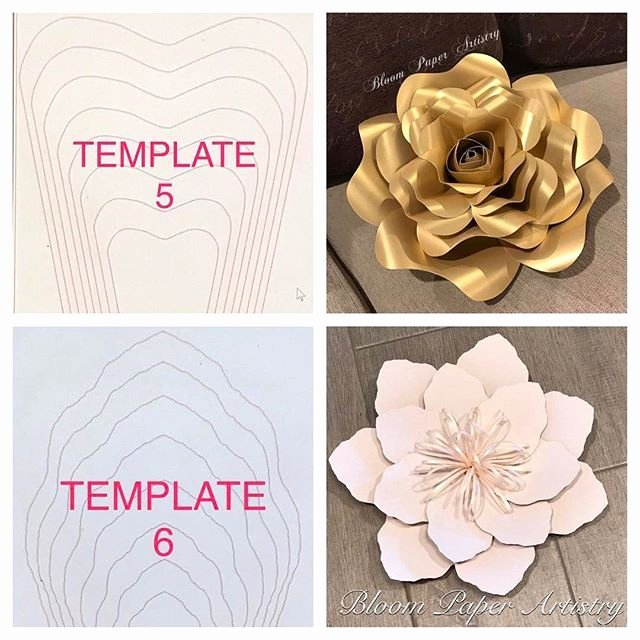 Free Rose Paper Flower Template Lovely 1009 Best Paper Flowers Images On Pinterest