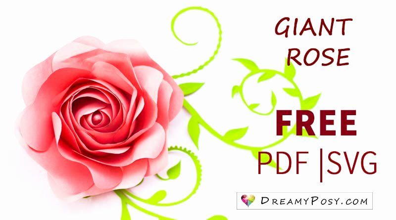 Free Rose Paper Flower Template Luxury Free Template and Full Tutorial to Make Giant Rose for