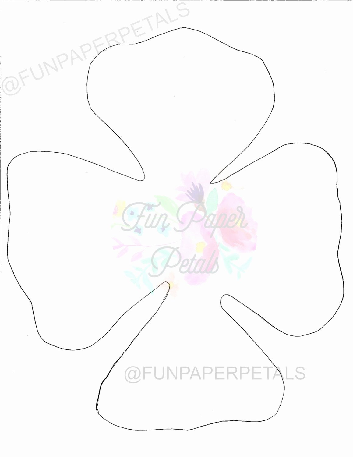 Free Rose Paper Flower Template Luxury Paper Flower Printable Flower Template Flower Template