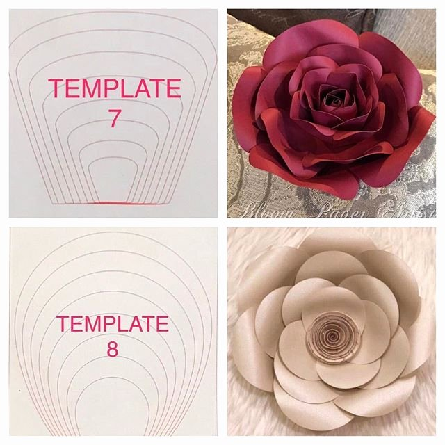 Free Rose Paper Flower Template Luxury Paper Flower Templates Craft Room
