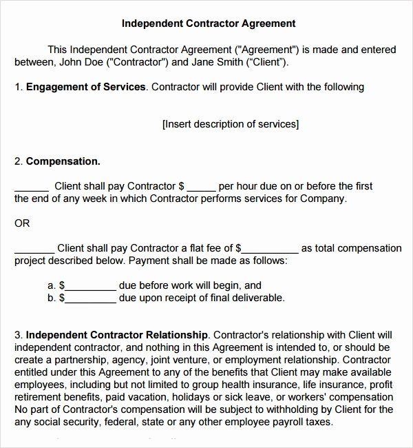 Free Subcontractor Agreement Template Word Best Of Sample Subcontractor Agreement 17 Free Documents