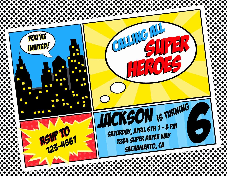 Free Superhero Invitation Templates Awesome Diy Printable Invitation Super Hero