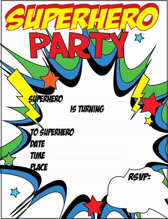 Free Superhero Invitation Templates Awesome Superhero Invitation Templates Invitation Template