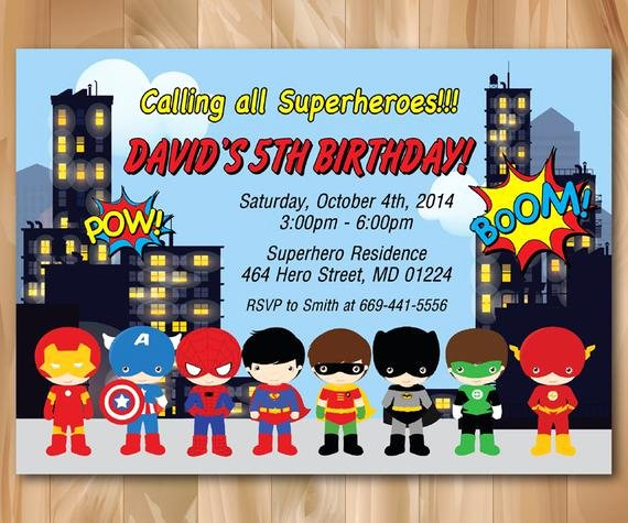 Free Superhero Invitation Templates Best Of Super Hero Birthday Party Invitation Superhero Pop Art Bday