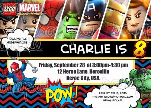 Free Superhero Invitation Templates Best Of Superhero Birthday Invitations Templates Free