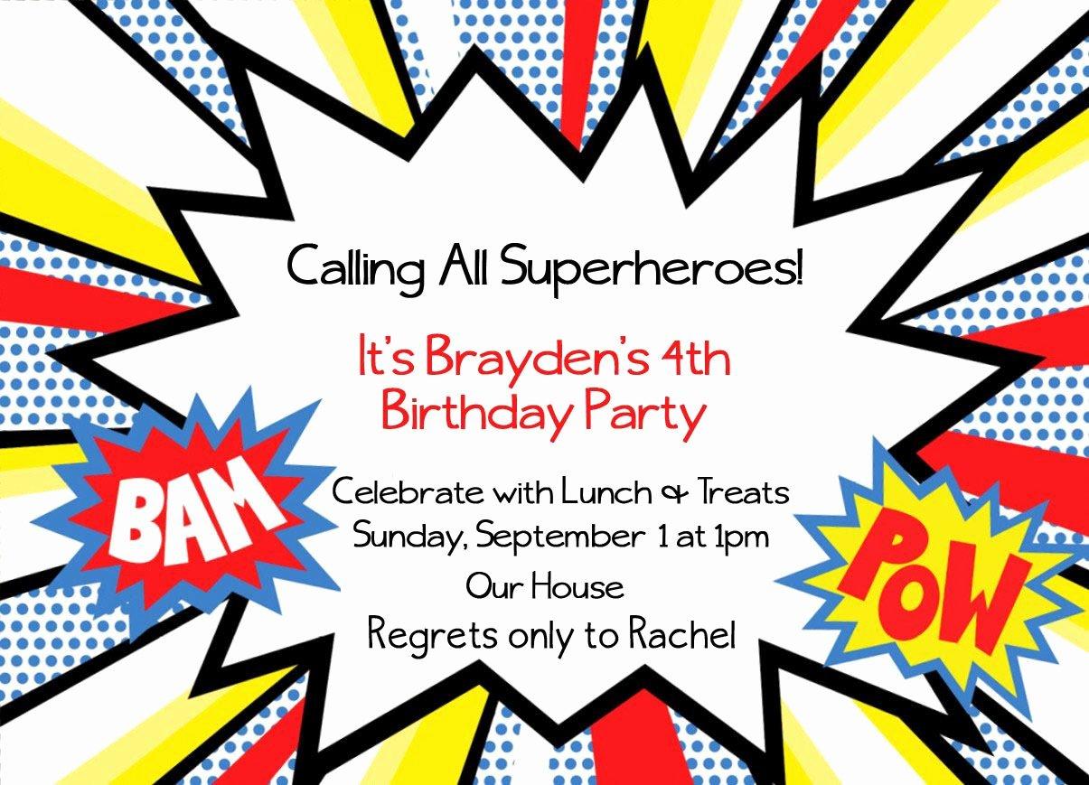 Free Superhero Invitation Templates Best Of Superhero Invitation Templates