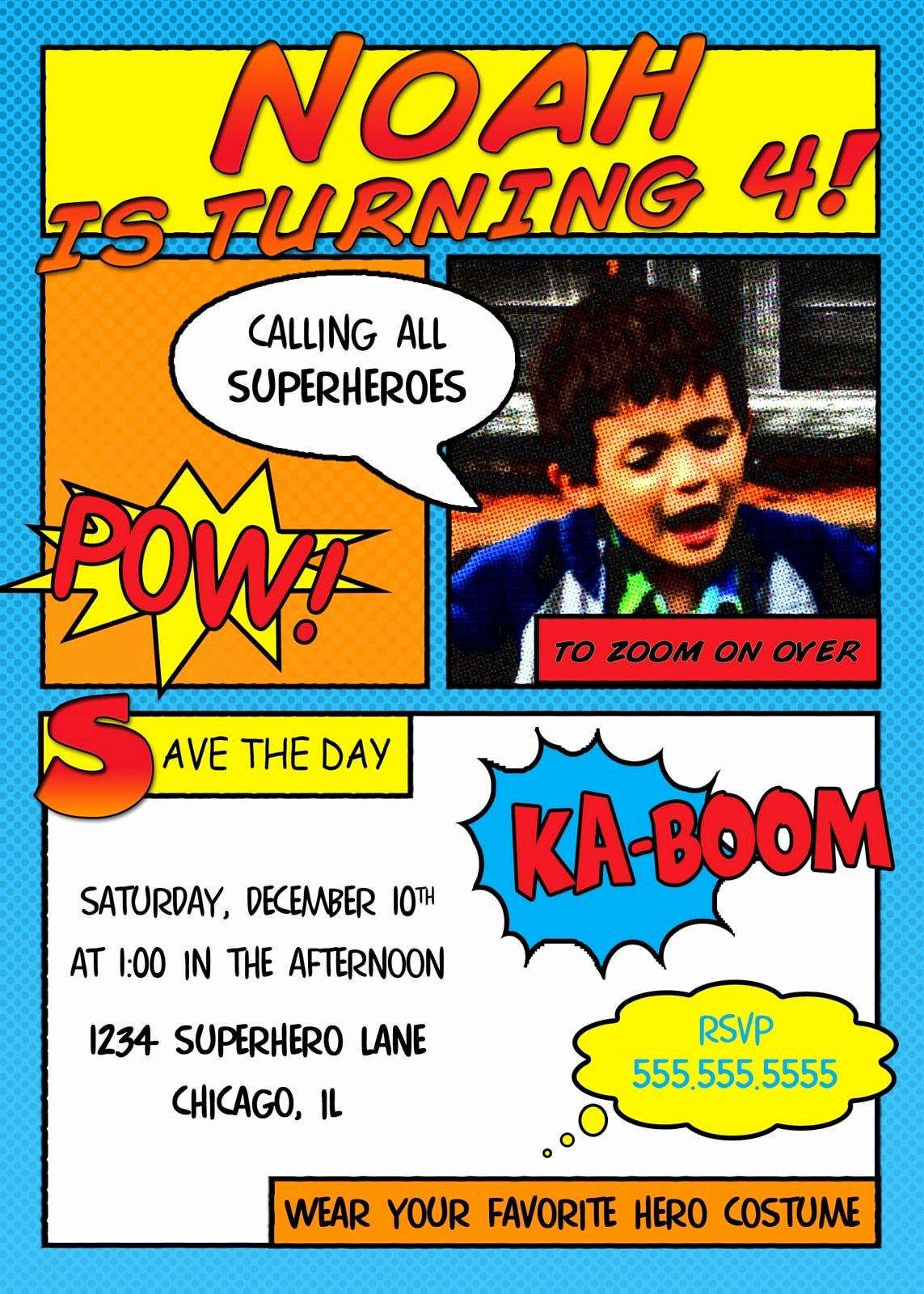Free Superhero Invitation Templates Elegant Free Superhero Invitation Templates