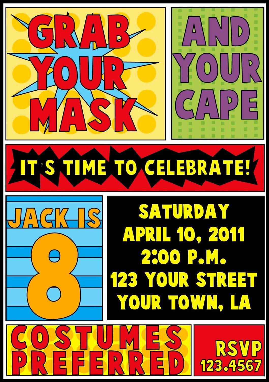 Free Superhero Invitation Templates Elegant Superhero Birthday Invitation by Letspartynola On Etsy