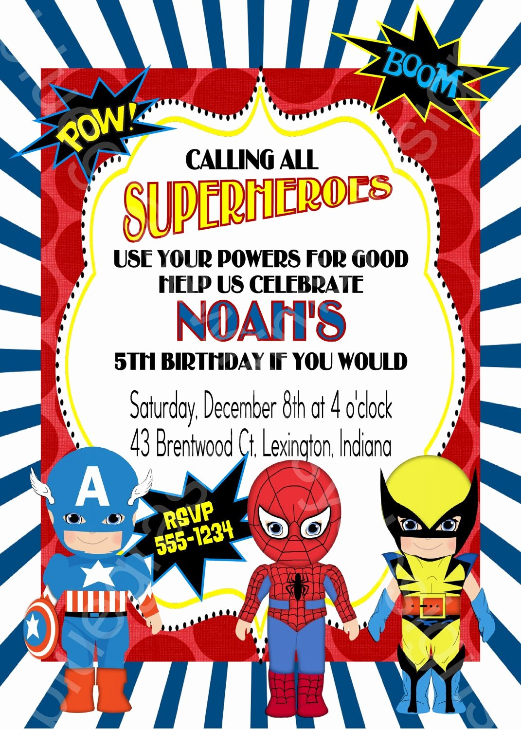 Free Superhero Invitation Templates Lovely Calling All Superheroes Birthday Party Invitation Boy or