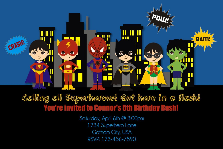 Free Superhero Invitation Templates Lovely Free Printable Superhero Birthday Invitations – Bagvania