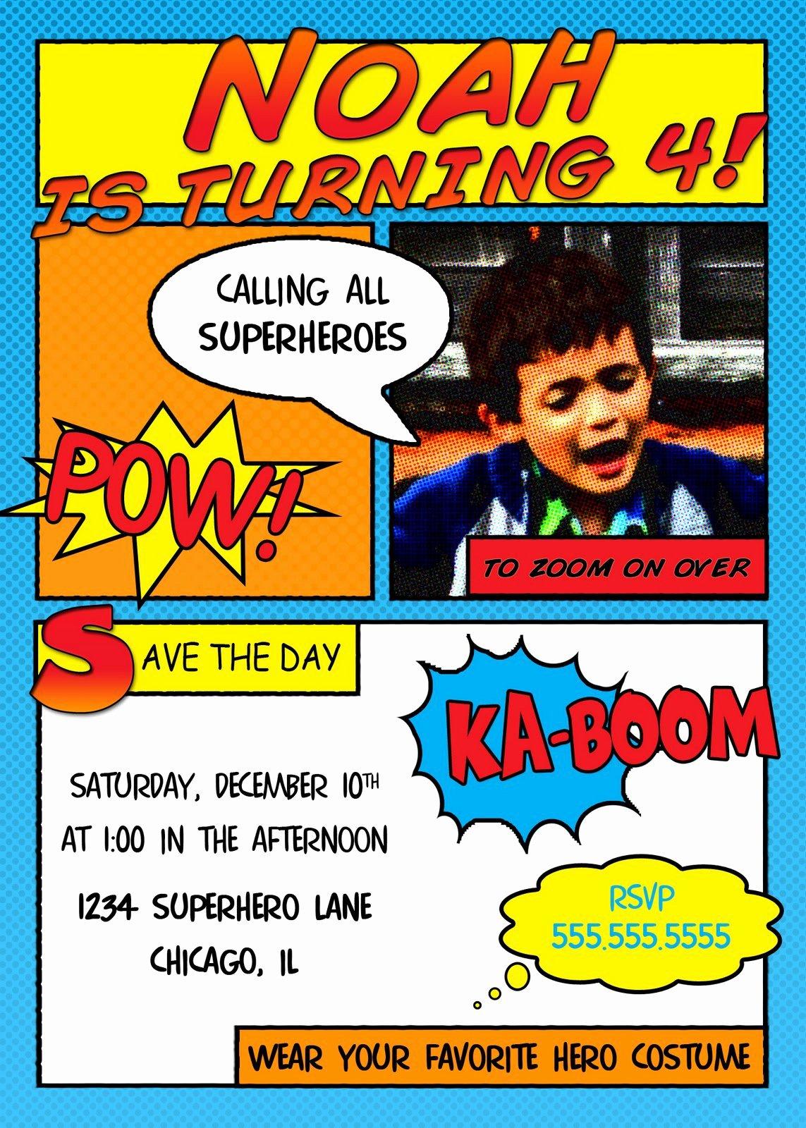 Free Superhero Invitation Templates Luxury Superhero Invitation Templates