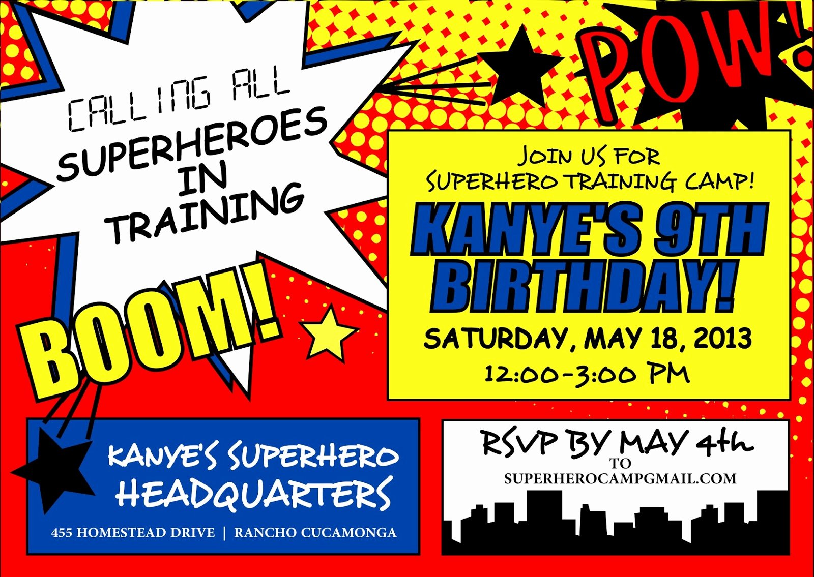 Free Superhero Invitation Templates New Signatures by Sarah Superhero Party Stationery for Amanda