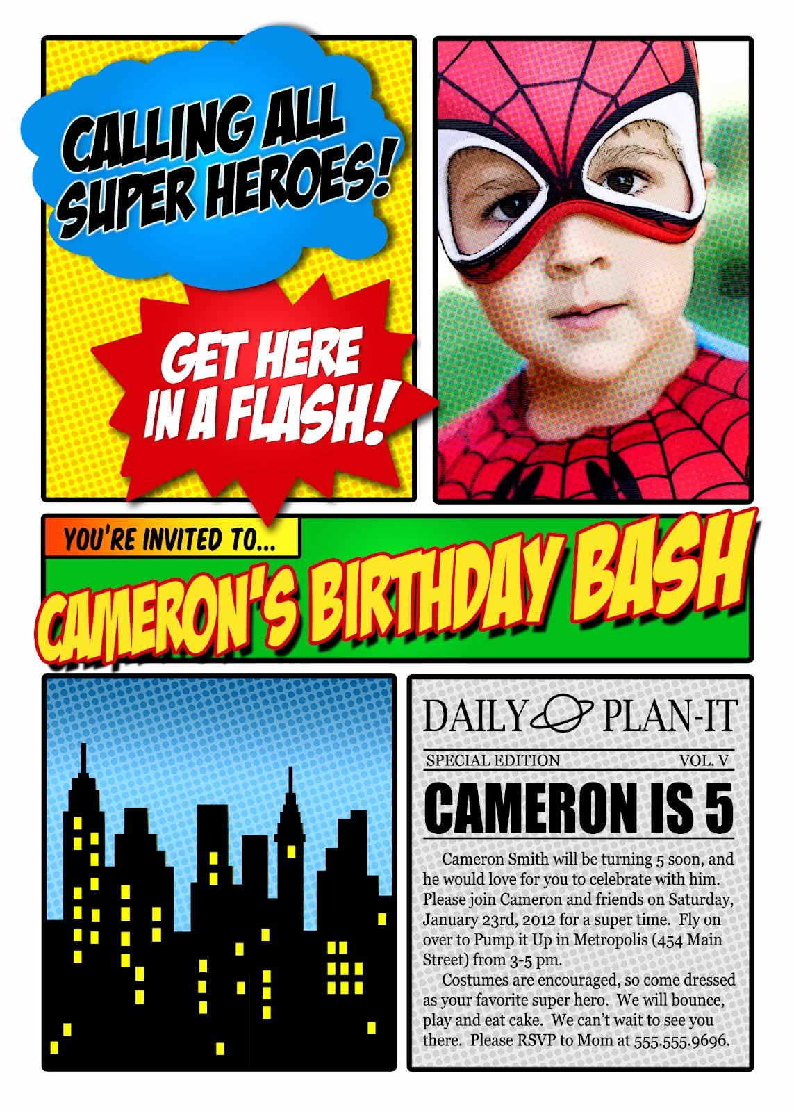Free Superhero Invitation Templates New Superhero Invitation Template