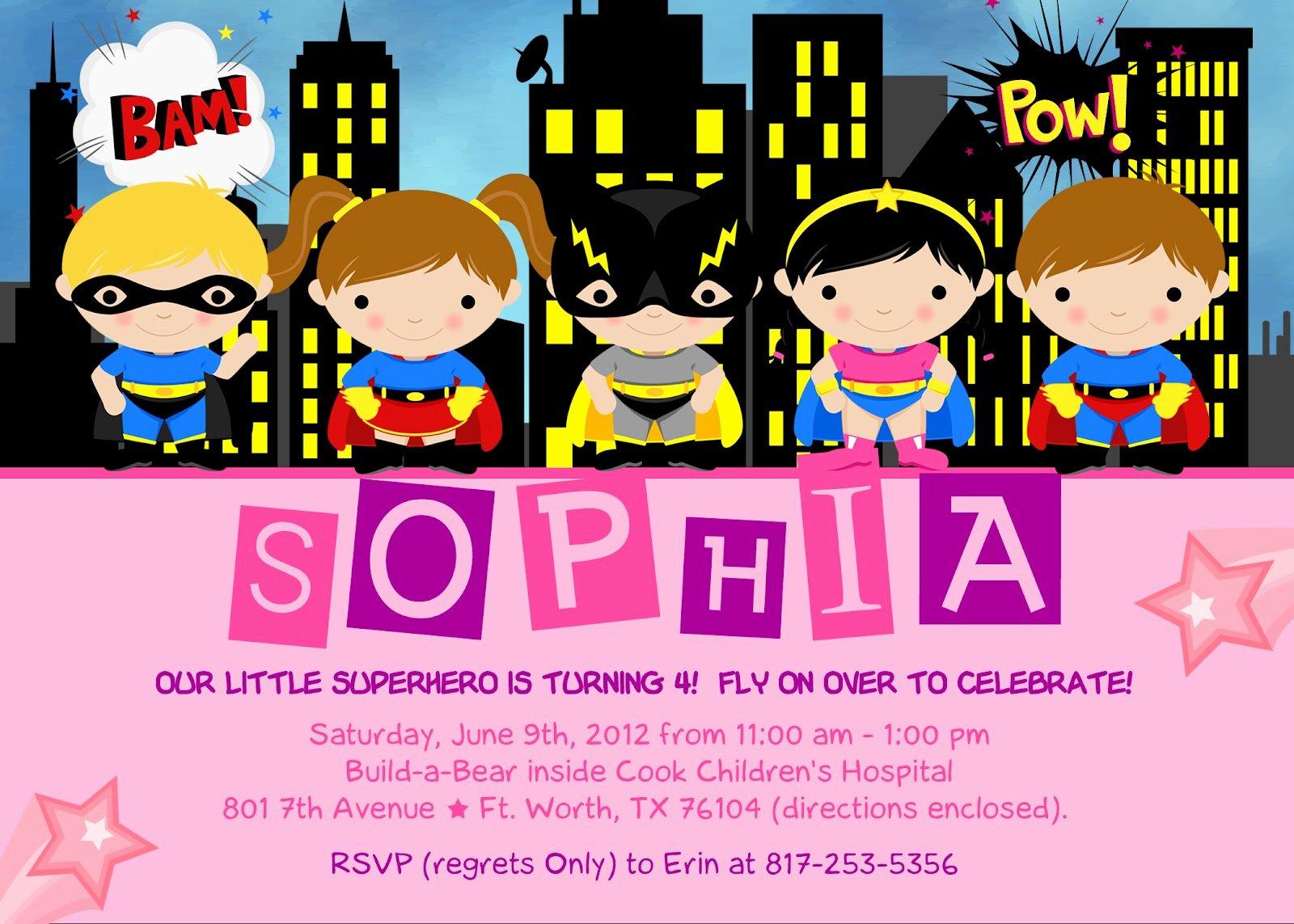 Free Superhero Invitation Templates Unique the Kaminski Chronicles Happy Birthday Party Super