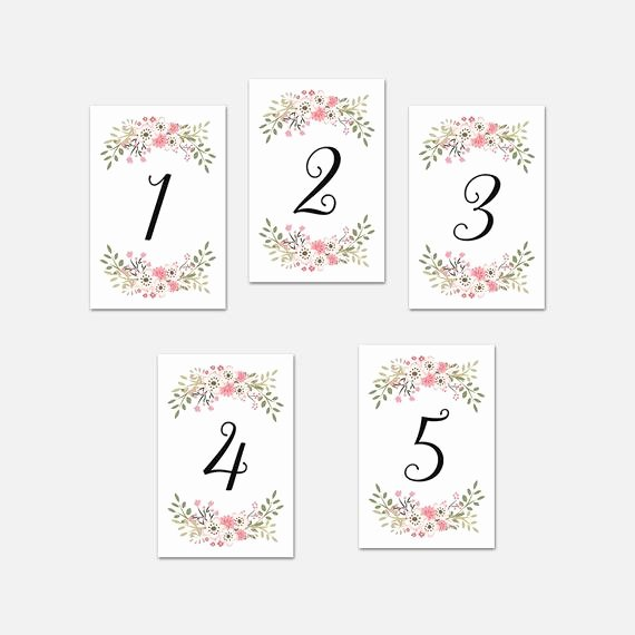 Free Table Number Templates 4x6 Beautiful Wedding Table Number Printable 4x6 Instant by