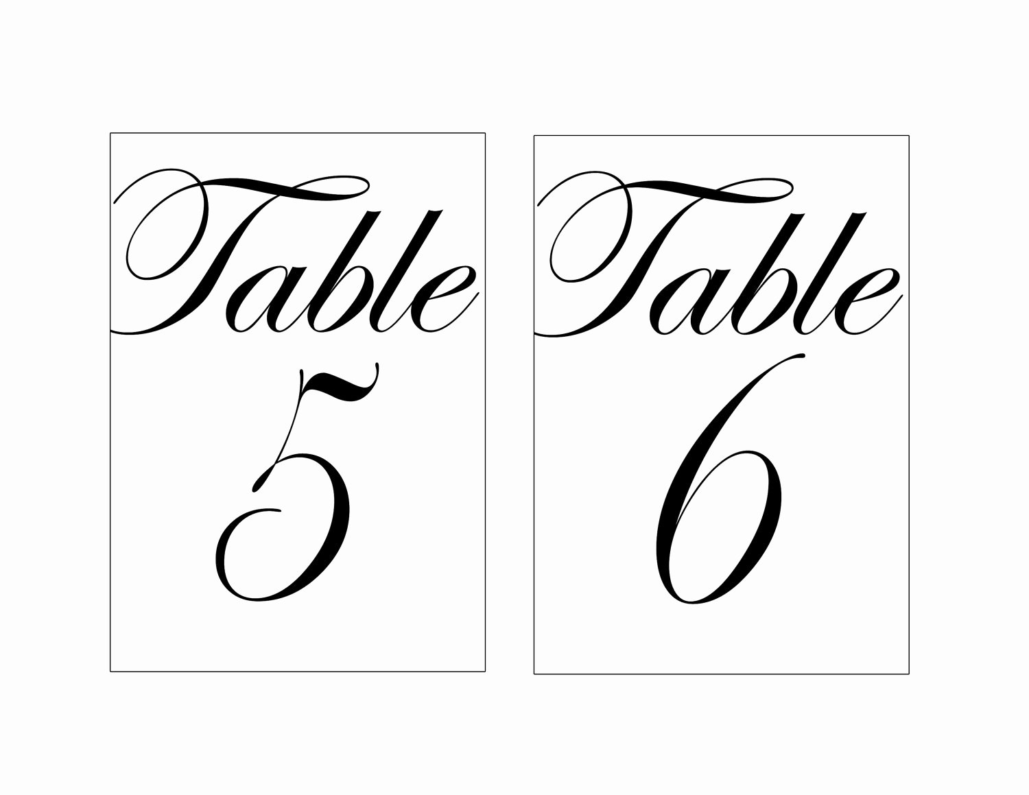 Free Table Number Templates 4x6 Beautiful Wedding Table Numbers Template Beepmunk