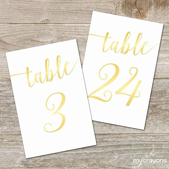 Free Table Number Templates 4x6 Best Of Printable Table Numbers – Namiswla