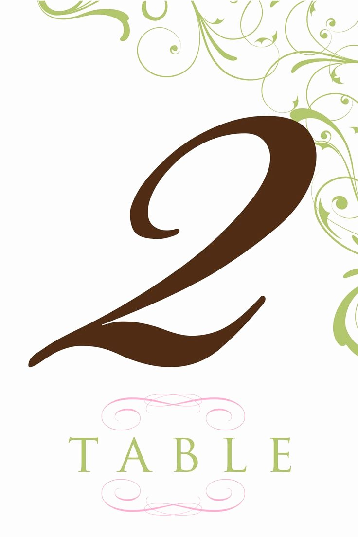 Free Table Number Templates 4x6 Elegant Printable Table Number Templates