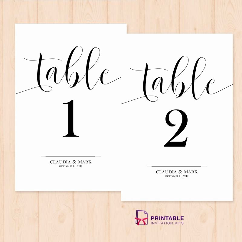Free Table Number Templates 4x6 Elegant Table Numbers Free Printable Pdf Template Easy to Edit