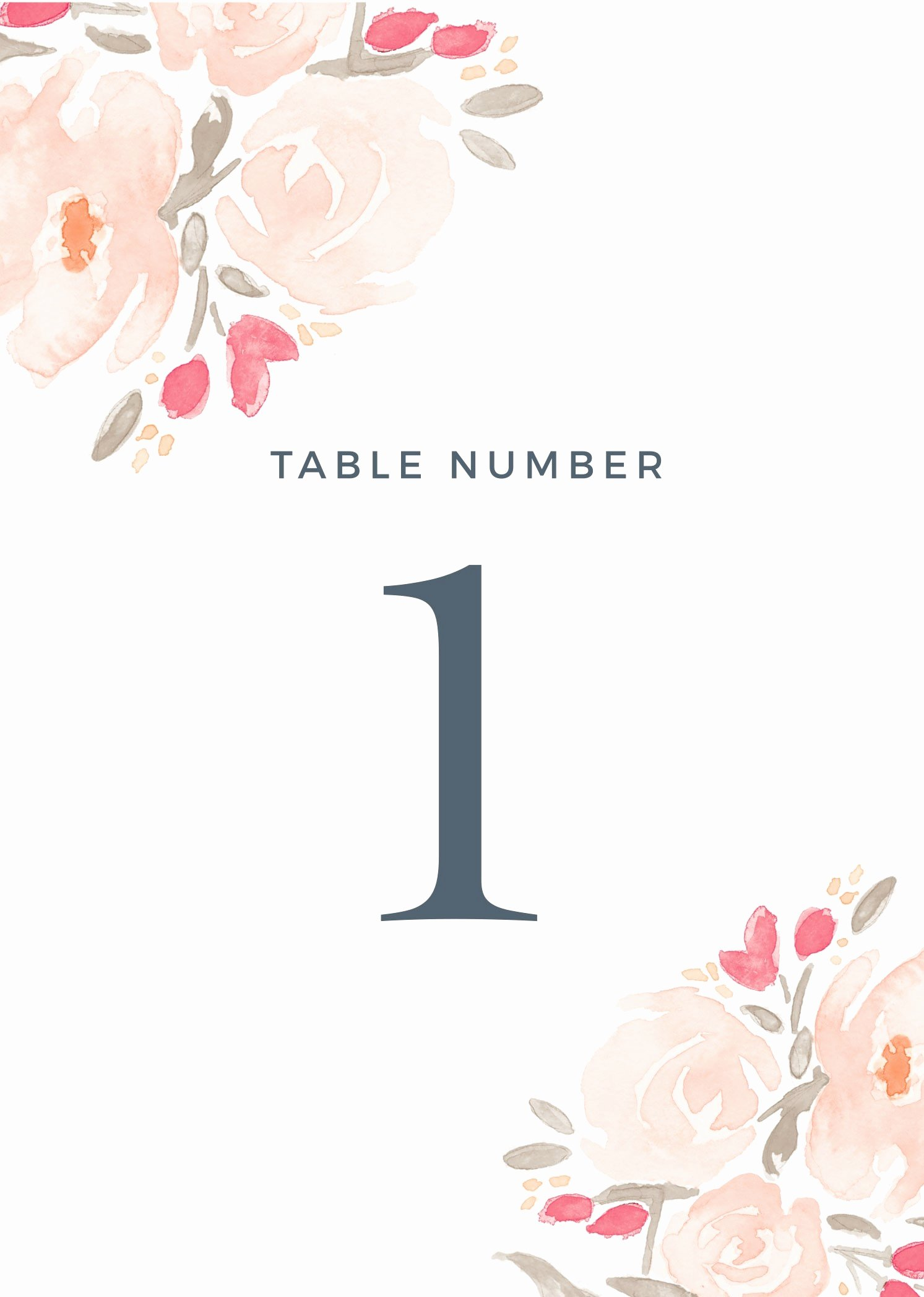Free Table Number Templates 4x6 Fresh Free Printable Custom Wedding Table Number Templates