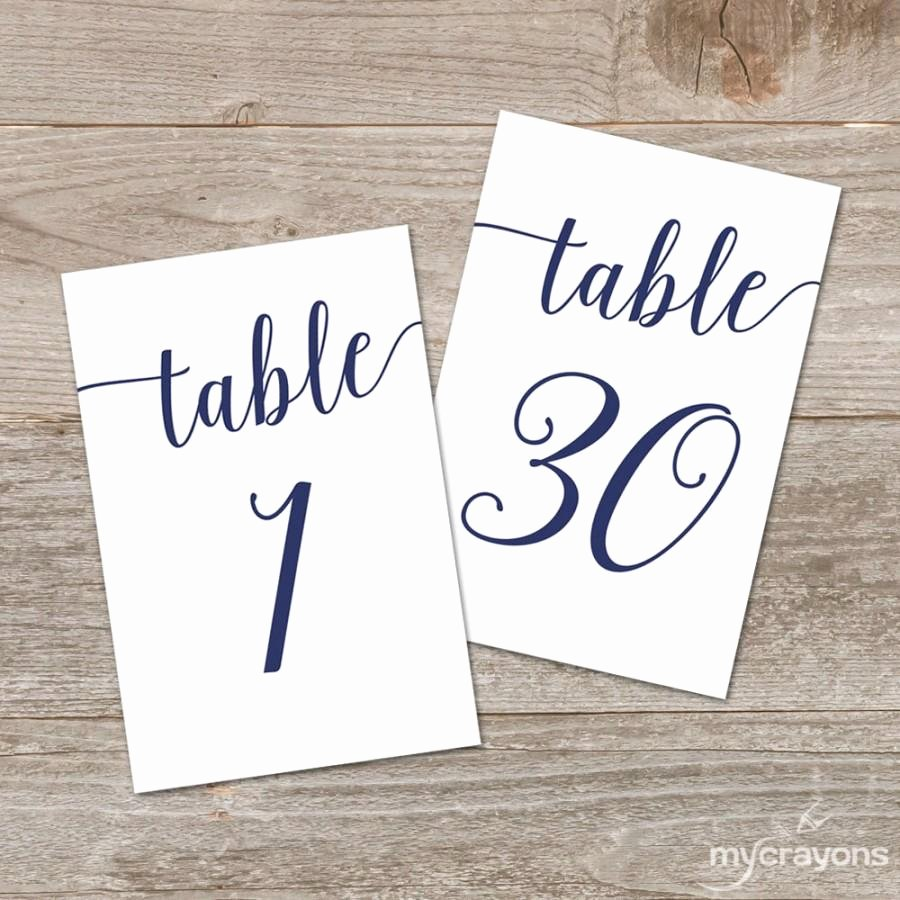 Free Table Number Templates 4x6 Fresh Script Number 1 Gallery