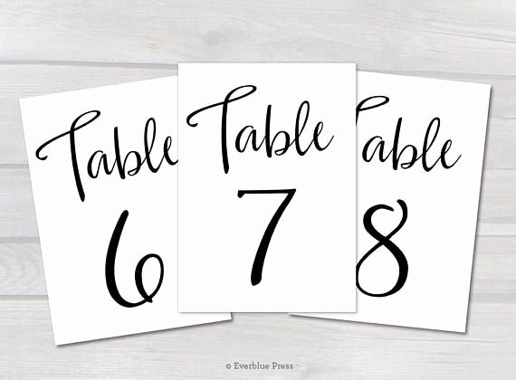Free Table Number Templates 4x6 Inspirational Black Table Numbers 1 50 Printable Pdf 4x6 5x7