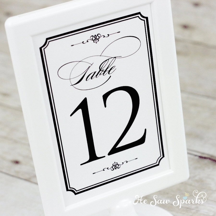 Free Table Number Templates 4x6 Lovely 1 20 Table Numbers Diy Printable Classic by Hesawsparks On