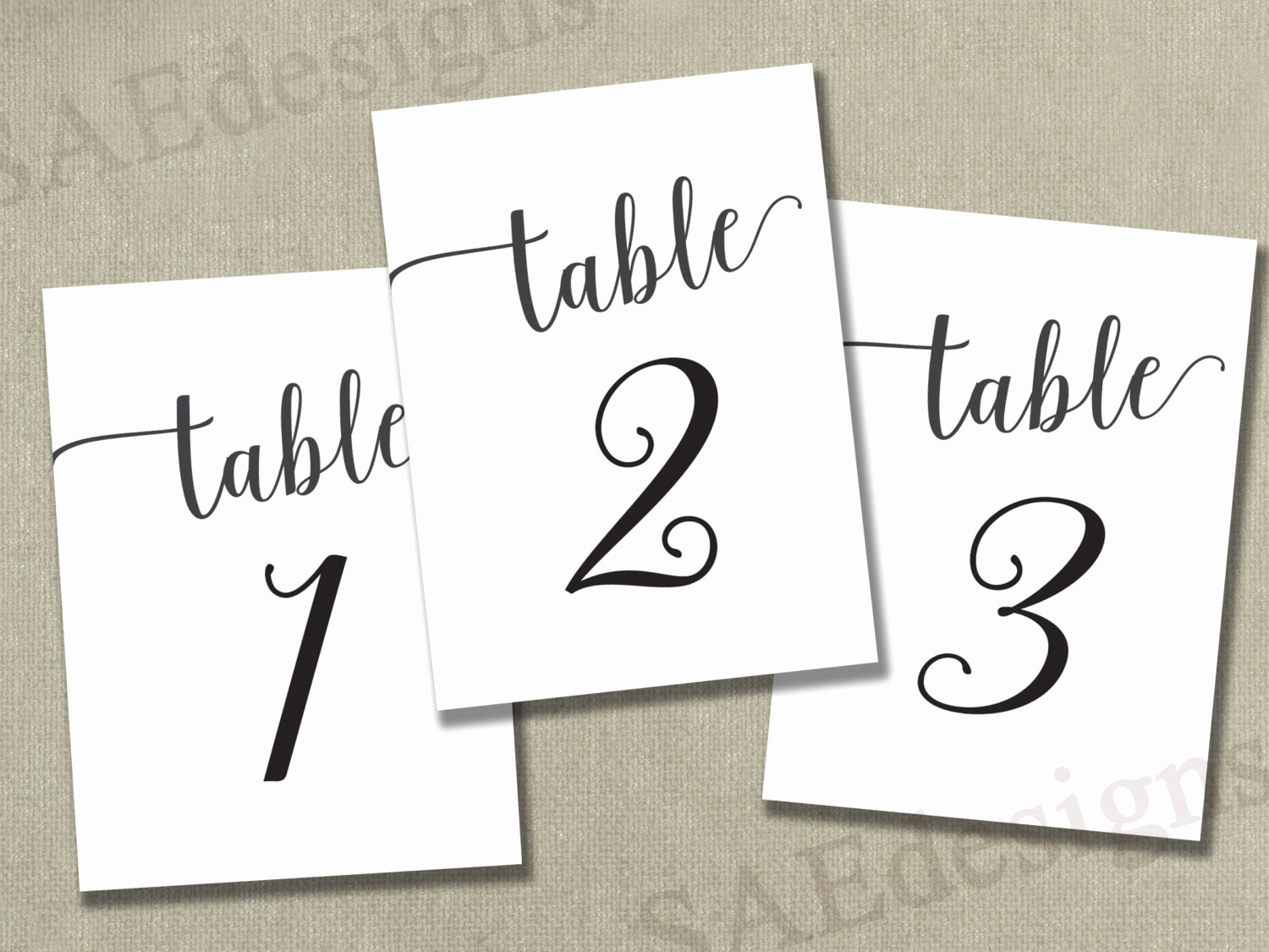 Free Table Number Templates 4x6 New Instant Download Printable Table Numbers 1 50 4x6