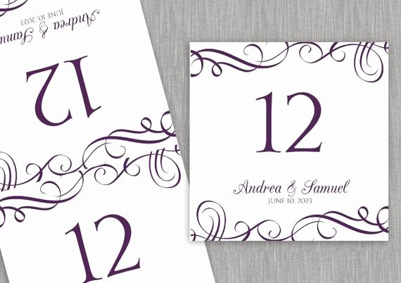 Free Table Number Templates 4x6 New Template Wedding Table Number Cards Rustic Table Numbers