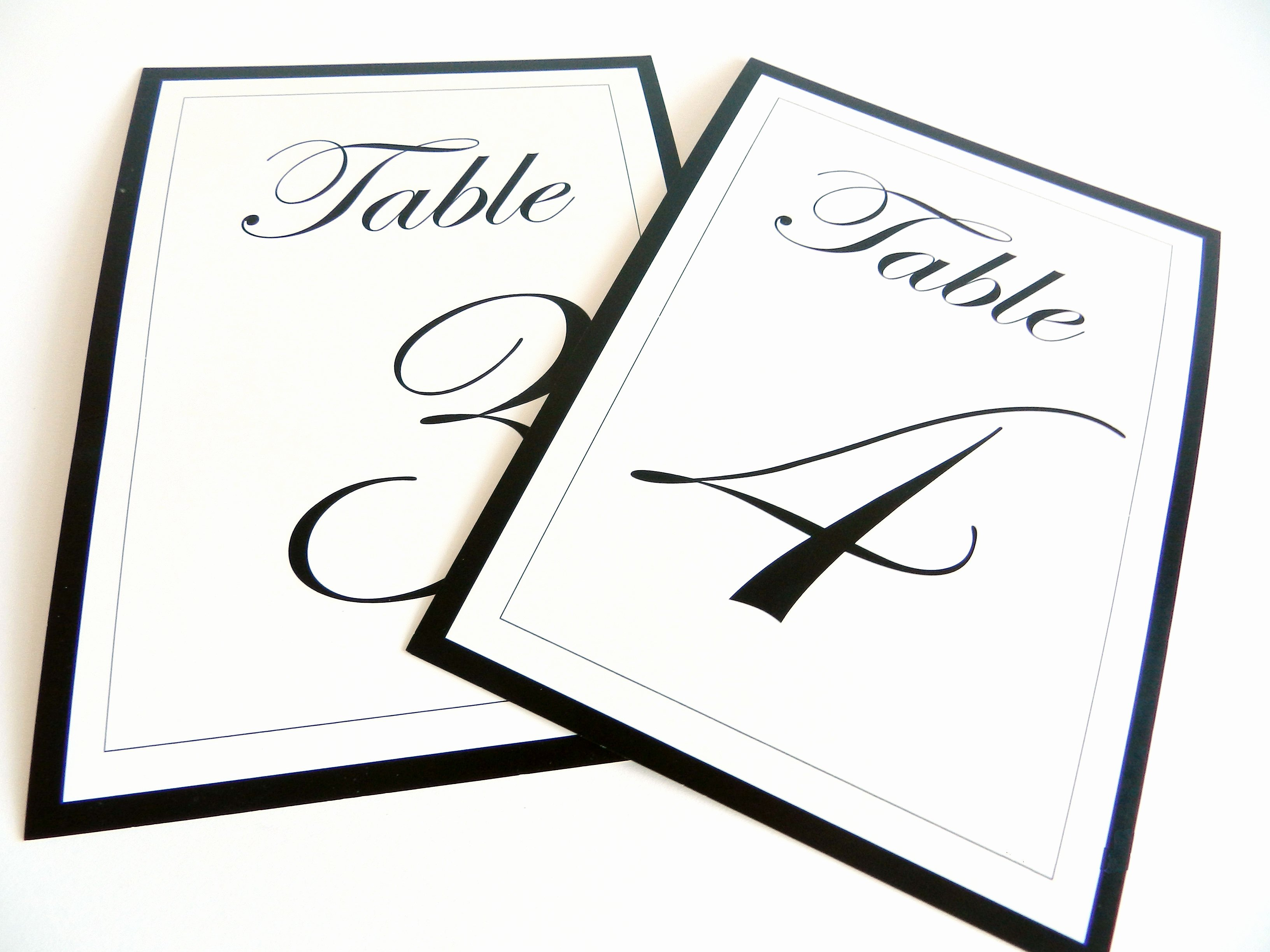 Free Table Number Templates 4x6 Unique [etsy Sale] Flat Wedding Table Numbers