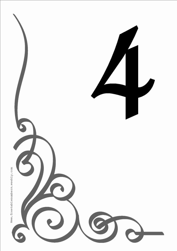 Free Table Number Templates 4x6 Unique Free Table Number Templates 4x6