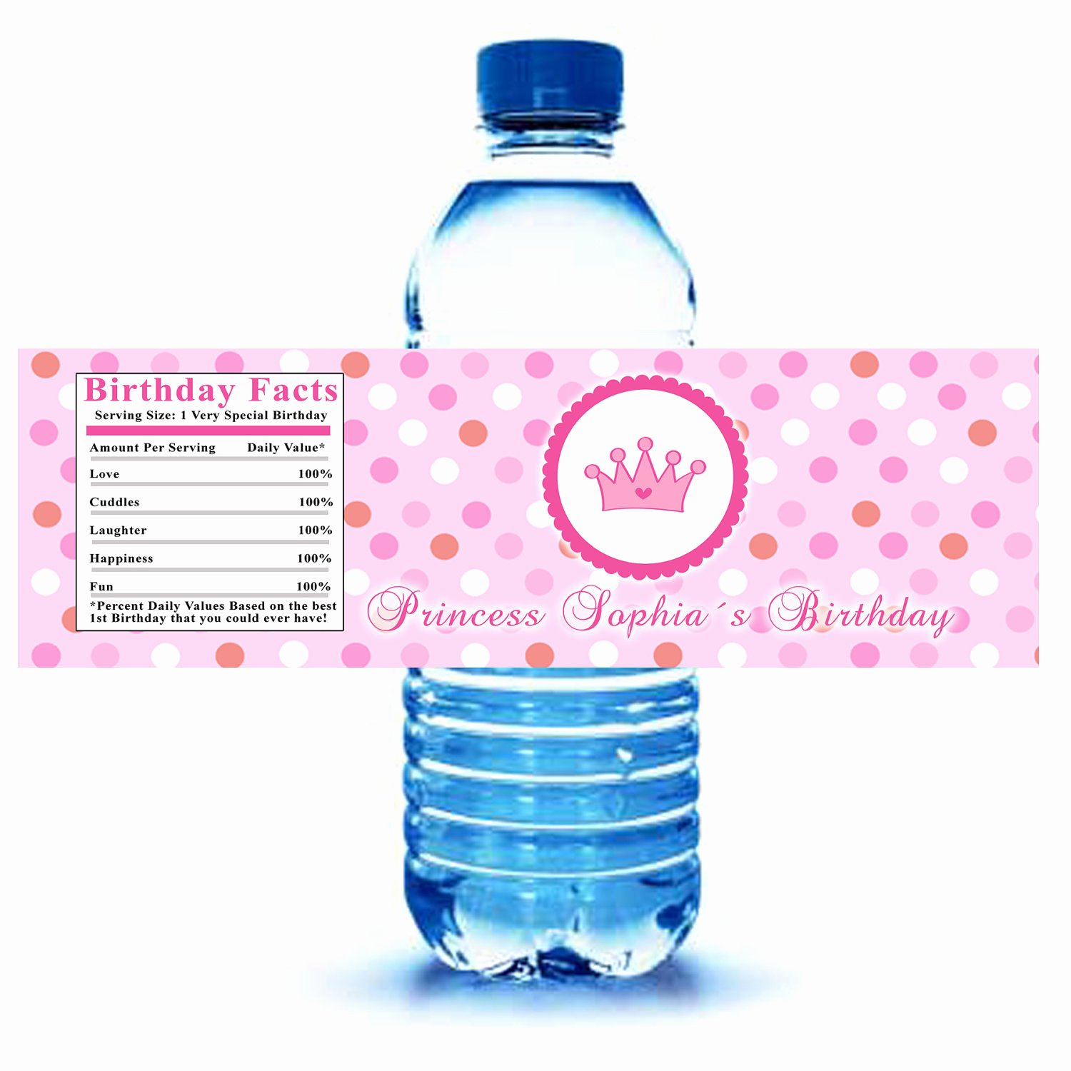 Free Water Bottle Label Template Baby Shower Beautiful Printable Personalized Princess Water Bottle Labels Wrappers
