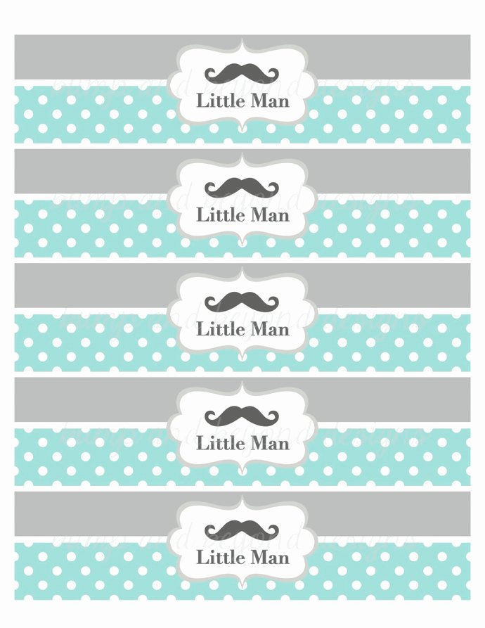 Free Water Bottle Label Template Baby Shower Elegant 22 Custom Printable Water Bottle Labels