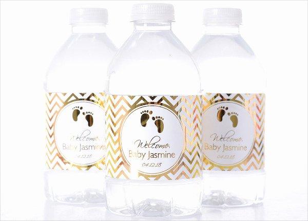 Free Water Bottle Label Template Baby Shower Inspirational 15 Printable Bottle Label Templates Design Templates