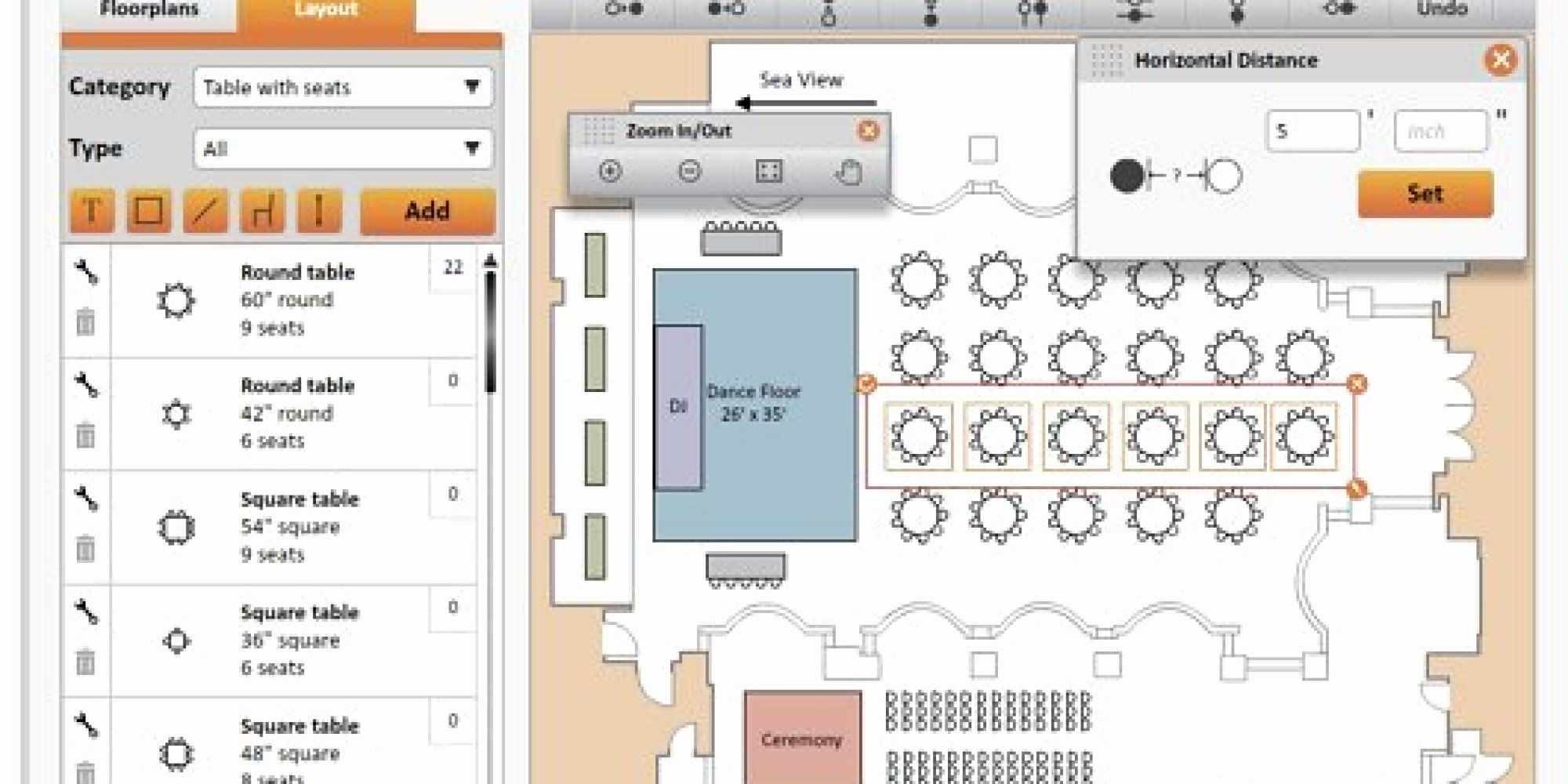 Free Wedding Floor Plan Template Awesome the Best Digital Seating Charts for Wedding Planning
